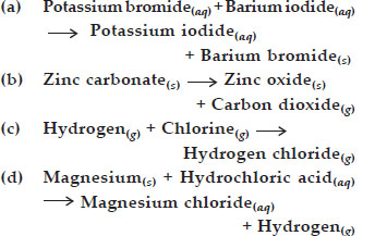 NCERT Solutions : Chemical Reactions and Equations (Chmestry